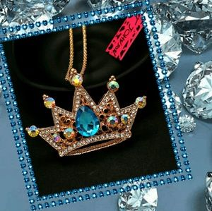 Reserved Betsey Johnson Crown Necklace
